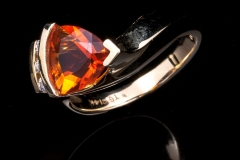 14ky Mexican fire opal ring