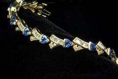 14ky tanzanite and diamond bracelet