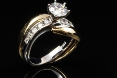 14k twotone diamond ring