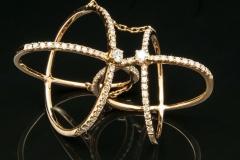 crisscross diamond finger ring