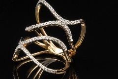 open space diamond ring