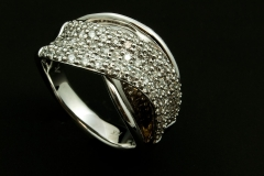14kw pave' diamond ring