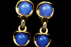 14ky lavender earrings