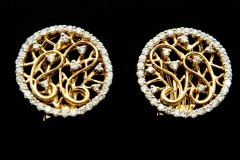 14ky open gold work with diamonds