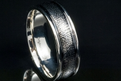 gents dimpled 14kw with black rhodium