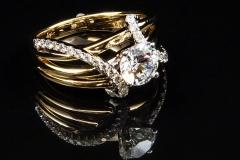 14ktt diamond rails